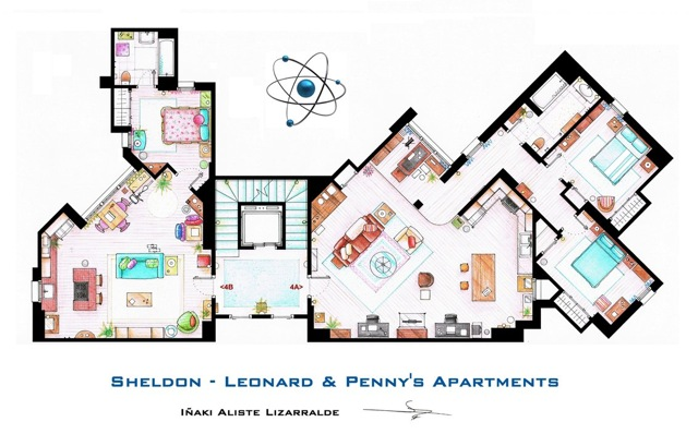The Big Bang Theory floor plans