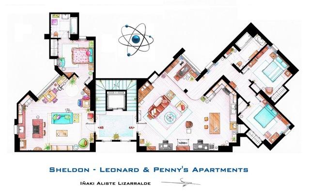 The Big Bang Theory floor plans