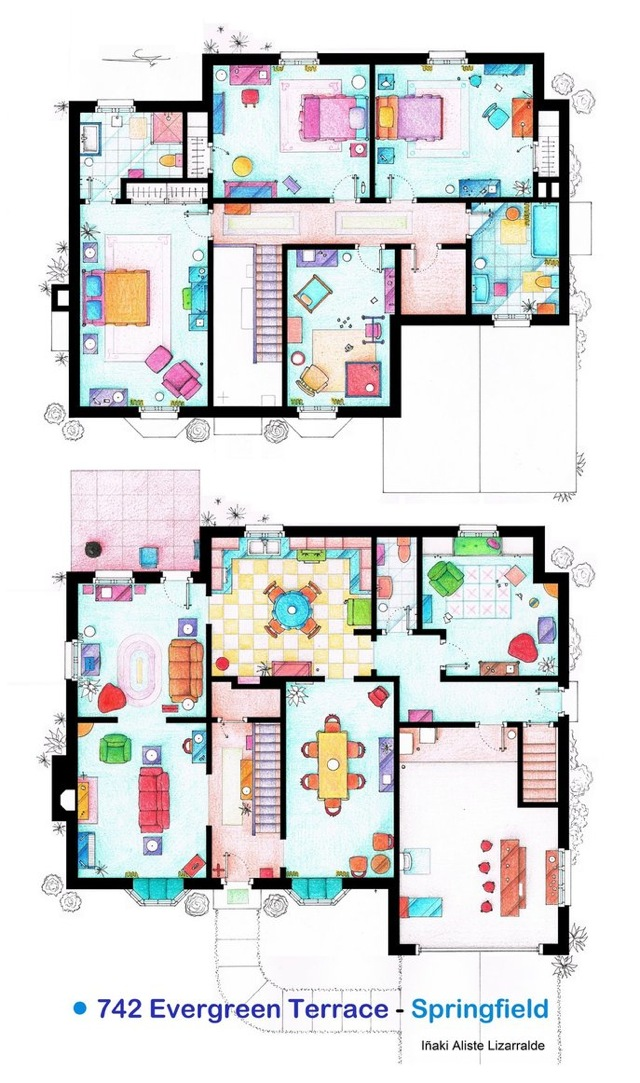 The Simpsons floor plans