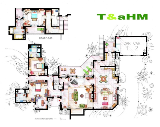 Two and a Half Men floor plans