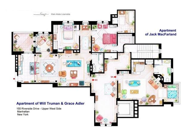 Will & Grace floor plans