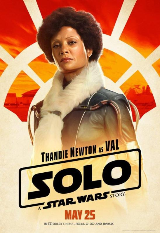 Solo character posters val